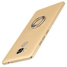 Coque Plastique Housse Etui Rigide Mat avec Support Bague Anneau A01 pour Huawei G9 Plus Or