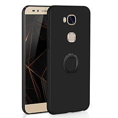 Coque Plastique Housse Etui Rigide Mat avec Support Bague Anneau A01 pour Huawei GR5 Noir