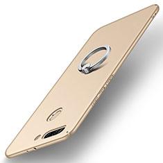 Coque Plastique Housse Etui Rigide Mat avec Support Bague Anneau A01 pour Huawei Honor 8 Pro Or