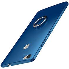 Coque Plastique Housse Etui Rigide Mat avec Support Bague Anneau A01 pour Huawei Honor Note 8 Bleu