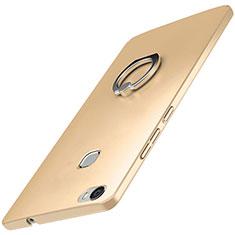 Coque Plastique Housse Etui Rigide Mat avec Support Bague Anneau A01 pour Huawei Honor Note 8 Or