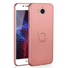 Coque Plastique Housse Etui Rigide Mat avec Support Bague Anneau A01 pour Huawei Honor Play 6 Or Rose