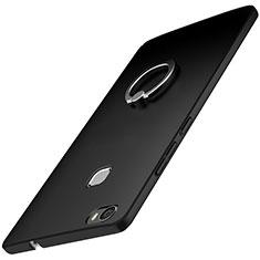 Coque Plastique Housse Etui Rigide Mat avec Support Bague Anneau A01 pour Huawei Honor V8 Max Noir