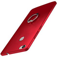 Coque Plastique Housse Etui Rigide Mat avec Support Bague Anneau A01 pour Huawei Honor V8 Max Rouge