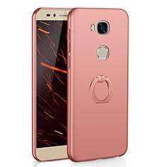 Coque Plastique Housse Etui Rigide Mat avec Support Bague Anneau A01 pour Huawei Honor X5 Or Rose