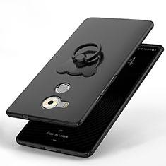 Coque Plastique Housse Etui Rigide Mat avec Support Bague Anneau A01 pour Huawei Mate 8 Noir