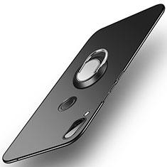 Coque Plastique Housse Etui Rigide Mat avec Support Bague Anneau A01 pour Huawei Nova 3 Noir