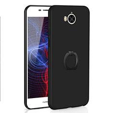 Coque Plastique Housse Etui Rigide Mat avec Support Bague Anneau A01 pour Huawei Y5 III Y5 3 Noir