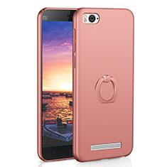 Coque Plastique Housse Etui Rigide Mat avec Support Bague Anneau A01 pour Xiaomi Mi 4C Or Rose