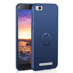 Coque Plastique Housse Etui Rigide Mat avec Support Bague Anneau A01 pour Xiaomi Mi 4i Bleu