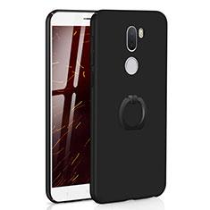 Coque Plastique Housse Etui Rigide Mat avec Support Bague Anneau A01 pour Xiaomi Mi 5S Plus Noir