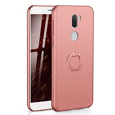 Coque Plastique Housse Etui Rigide Mat avec Support Bague Anneau A01 pour Xiaomi Mi 5S Plus Or Rose
