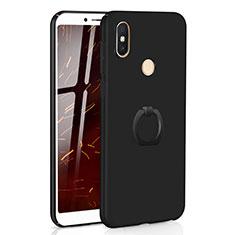 Coque Plastique Housse Etui Rigide Mat avec Support Bague Anneau A01 pour Xiaomi Redmi S2 Noir