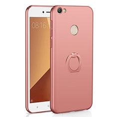 Coque Plastique Housse Etui Rigide Mat avec Support Bague Anneau A01 pour Xiaomi Redmi Y1 Or Rose