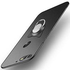 Coque Plastique Housse Etui Rigide Mat avec Support Bague Anneau A04 pour Huawei Honor 7C Noir