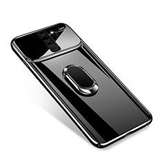 Coque Plastique Housse Etui Rigide Mat avec Support Bague Anneau Aimante A01 pour Samsung Galaxy S9 Plus Noir