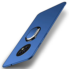 Coque Plastique Housse Etui Rigide Mat avec Support Bague Anneau Aimante Magnetique A01 pour Huawei Enjoy 20 Plus 5G Bleu
