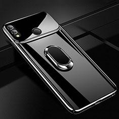 Coque Plastique Housse Etui Rigide Mat avec Support Bague Anneau Aimante Magnetique A01 pour Huawei Honor 10 Lite Noir