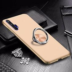 Coque Plastique Housse Etui Rigide Mat avec Support Bague Anneau Aimante Magnetique A01 pour Huawei Honor 20 Pro Or