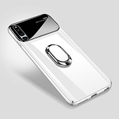 Coque Plastique Housse Etui Rigide Mat avec Support Bague Anneau Aimante Magnetique A01 pour Huawei Honor Magic 2 Blanc