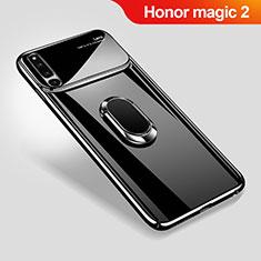 Coque Plastique Housse Etui Rigide Mat avec Support Bague Anneau Aimante Magnetique A01 pour Huawei Honor Magic 2 Noir