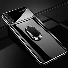 Coque Plastique Housse Etui Rigide Mat avec Support Bague Anneau Aimante Magnetique A01 pour Huawei P20 Pro Noir