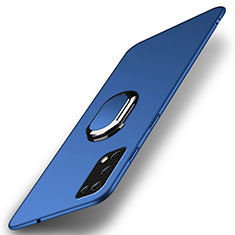 Coque Plastique Housse Etui Rigide Mat avec Support Bague Anneau Aimante Magnetique A01 pour Oppo K7x 5G Bleu