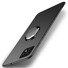 Coque Plastique Housse Etui Rigide Mat avec Support Bague Anneau Aimante Magnetique A01 pour Oppo Reno4 SE 5G Noir