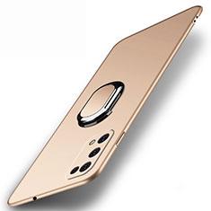 Coque Plastique Housse Etui Rigide Mat avec Support Bague Anneau Aimante Magnetique A01 pour Realme V5 5G Or