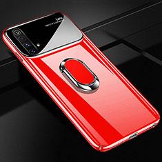 Coque Plastique Housse Etui Rigide Mat avec Support Bague Anneau Aimante Magnetique A01 pour Realme X3 SuperZoom Rouge
