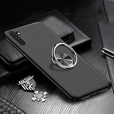 Coque Plastique Housse Etui Rigide Mat avec Support Bague Anneau Aimante Magnetique A01 pour Samsung Galaxy Note 10 Noir