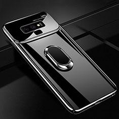 Coque Plastique Housse Etui Rigide Mat avec Support Bague Anneau Aimante Magnetique A01 pour Samsung Galaxy Note 9 Noir