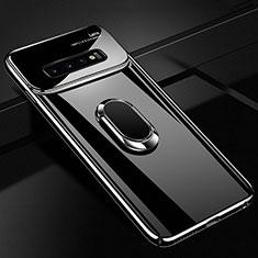 Coque Plastique Housse Etui Rigide Mat avec Support Bague Anneau Aimante Magnetique A01 pour Samsung Galaxy S10 Plus Noir