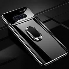 Coque Plastique Housse Etui Rigide Mat avec Support Bague Anneau Aimante Magnetique A01 pour Samsung Galaxy S10e Noir