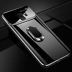 Coque Plastique Housse Etui Rigide Mat avec Support Bague Anneau Aimante Magnetique A01 pour Samsung Galaxy S9 Noir