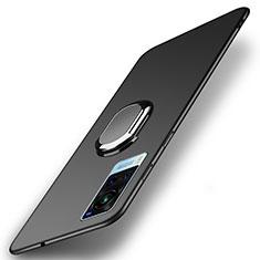 Coque Plastique Housse Etui Rigide Mat avec Support Bague Anneau Aimante Magnetique A01 pour Vivo X60 5G Noir