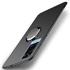 Coque Plastique Housse Etui Rigide Mat avec Support Bague Anneau Aimante Magnetique A01 pour Vivo X60 Pro 5G Noir