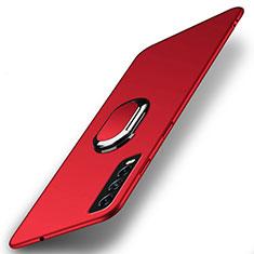 Coque Plastique Housse Etui Rigide Mat avec Support Bague Anneau Aimante Magnetique A01 pour Vivo Y12s Rouge