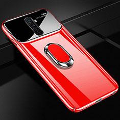 Coque Plastique Housse Etui Rigide Mat avec Support Bague Anneau Aimante Magnetique A02 pour Realme X2 Pro Rouge