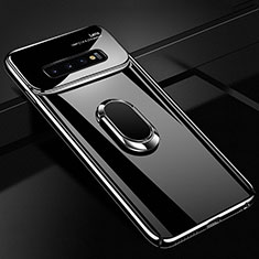 Coque Plastique Housse Etui Rigide Mat avec Support Bague Anneau Aimante Magnetique A02 pour Samsung Galaxy S10 5G Noir