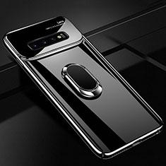 Coque Plastique Housse Etui Rigide Mat avec Support Bague Anneau Aimante Magnetique A02 pour Samsung Galaxy S10 Noir
