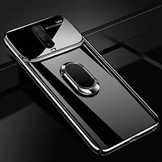 Coque Plastique Housse Etui Rigide Mat avec Support Bague Anneau Aimante Magnetique A02 pour Xiaomi Poco X2 Noir