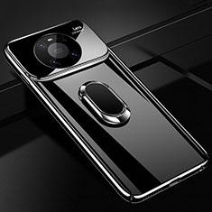 Coque Plastique Housse Etui Rigide Mat avec Support Bague Anneau Aimante Magnetique K01 pour Huawei Mate 40 Pro Noir