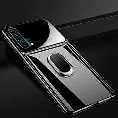 Coque Plastique Housse Etui Rigide Mat avec Support Bague Anneau Aimante Magnetique P01 pour Huawei Honor 20 Pro Noir
