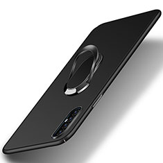 Coque Plastique Housse Etui Rigide Mat avec Support Bague Anneau Aimante Magnetique P01 pour Oppo Find X2 Neo Noir
