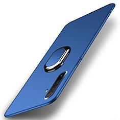 Coque Plastique Housse Etui Rigide Mat avec Support Bague Anneau Aimante Magnetique P01 pour Realme X50 Pro 5G Bleu
