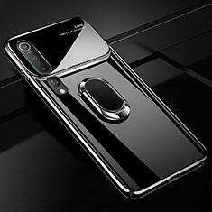 Coque Plastique Housse Etui Rigide Mat avec Support Bague Anneau Aimante Magnetique P01 pour Xiaomi Mi 10 Noir