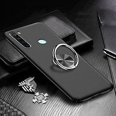 Coque Plastique Housse Etui Rigide Mat avec Support Bague Anneau Aimante Magnetique P01 pour Xiaomi Redmi Note 8T Noir