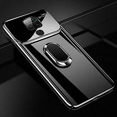Coque Plastique Housse Etui Rigide Mat avec Support Bague Anneau Aimante Magnetique P01 pour Xiaomi Redmi Note 9 Noir