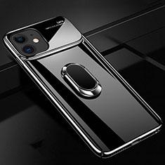 Coque Plastique Housse Etui Rigide Mat avec Support Bague Anneau Aimante Magnetique P02 pour Apple iPhone 11 Noir